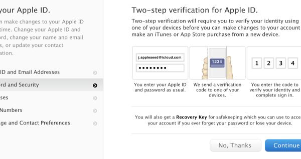 apple two step verifiication
