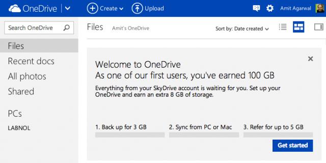 onedrive free storage