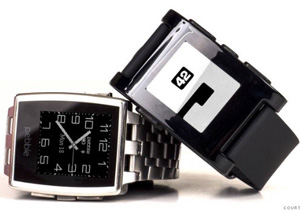 62300 pebble and pebble steel smart watch