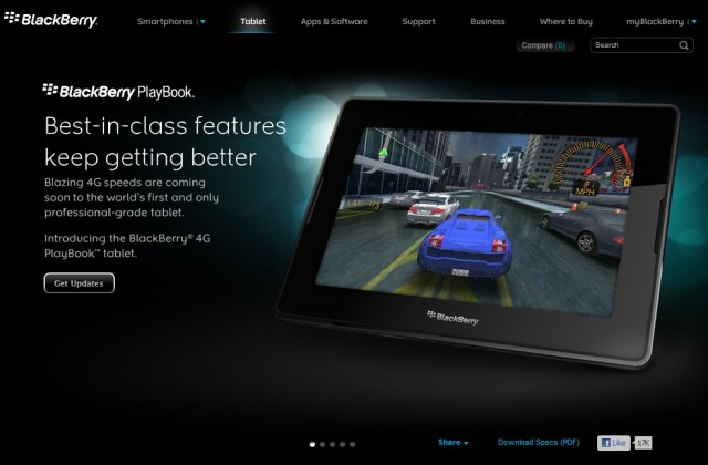 blackberry tablet playbook