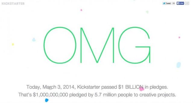 kickstarter 1 billion pledges