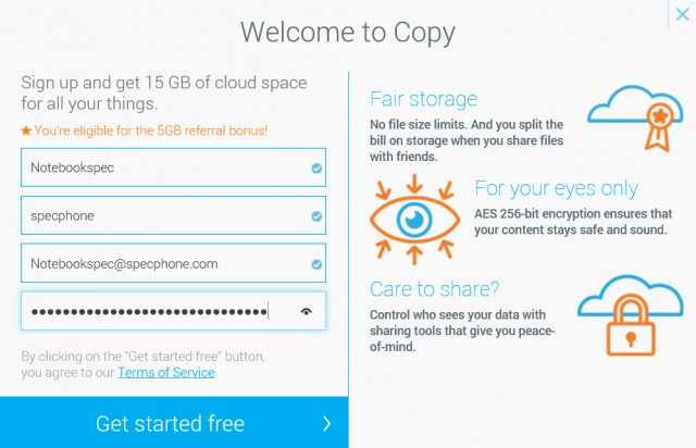 copy cloud singup login