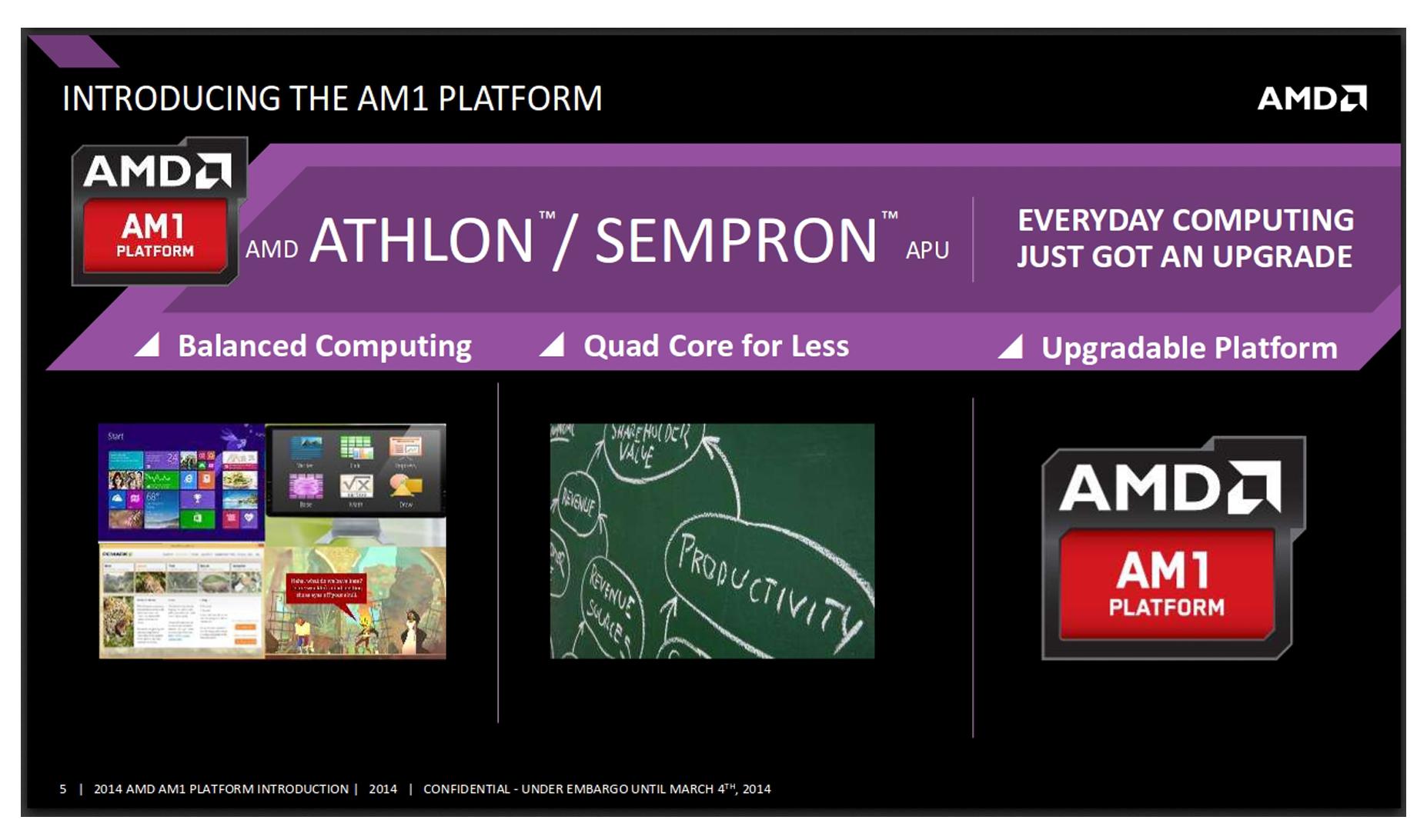ล่าสุด AMD Sempron และ AMD Athlon มาในแพลตฟอร์ม AM1จาก AMD