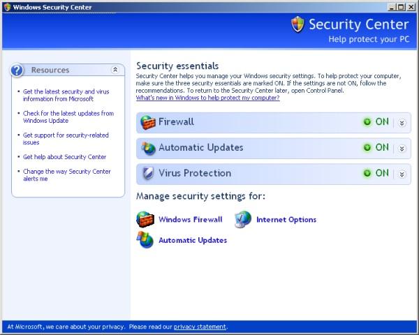 WindowsXP-Firewall