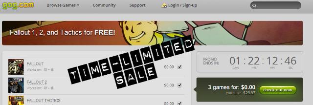 gog.com winter 2013 fallout sale 48 hour -header