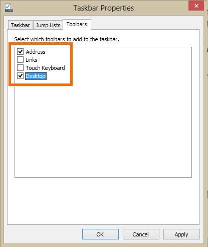 Taskbar-Address bar-3