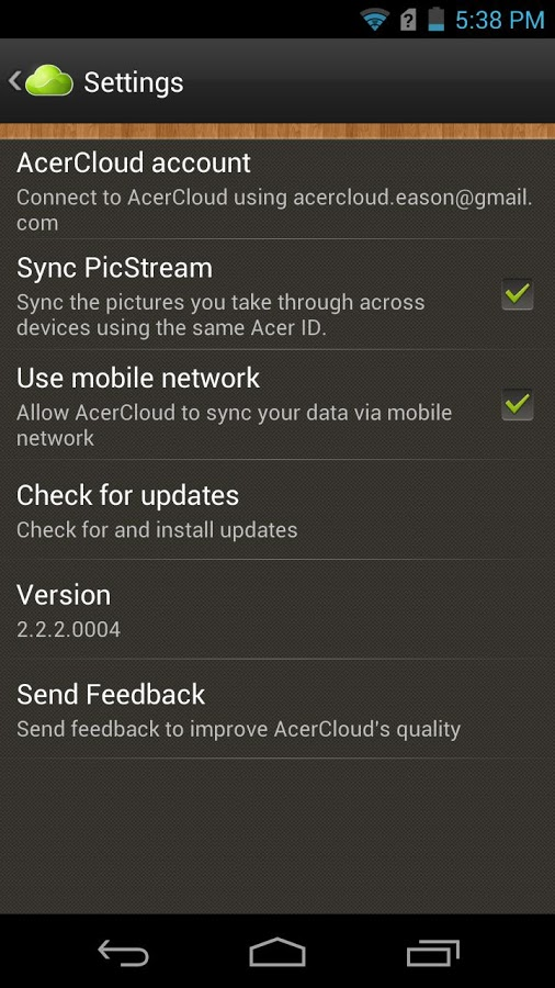 acer-cloud-app-android