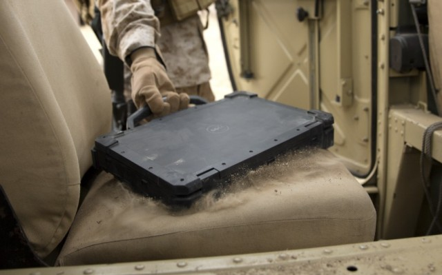 Latitude 14 Rugged Extreme Notebook in Military Environment