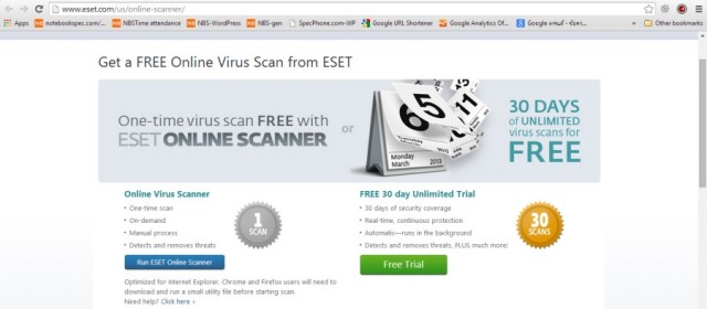 ESET Online Scan สแกนไวรัสฉบับออนไลน์ - Notebookspec