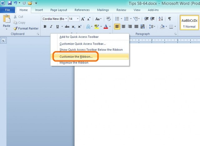 ms word-create-ribbon-1