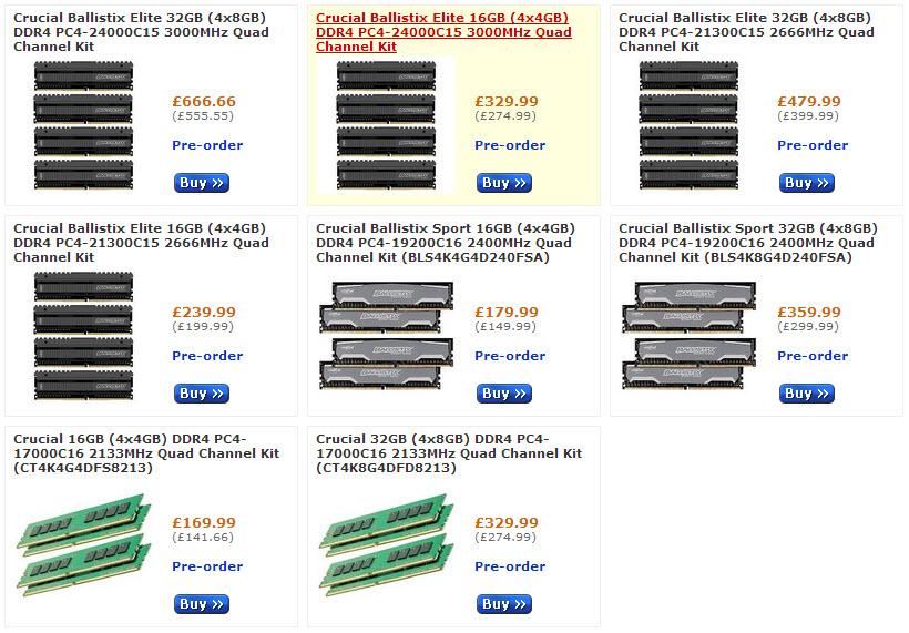 Crucial DDR4 Pre Order-2