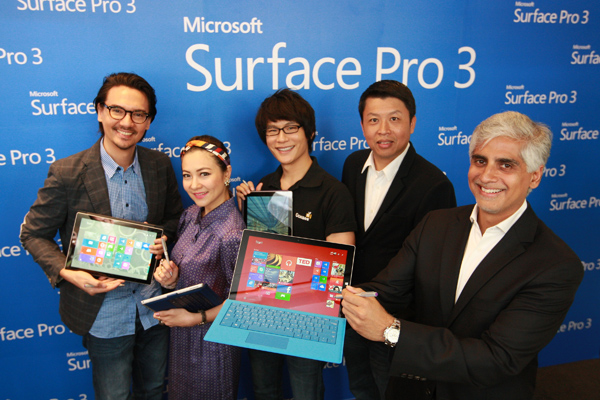 Haresh Khoobchandani, Ekaraj Panjavinin and Surface Pro 3-th