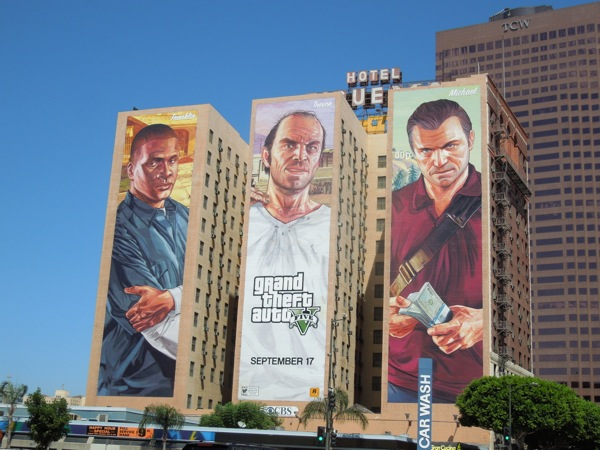 grand theft auto 5 billboard ads