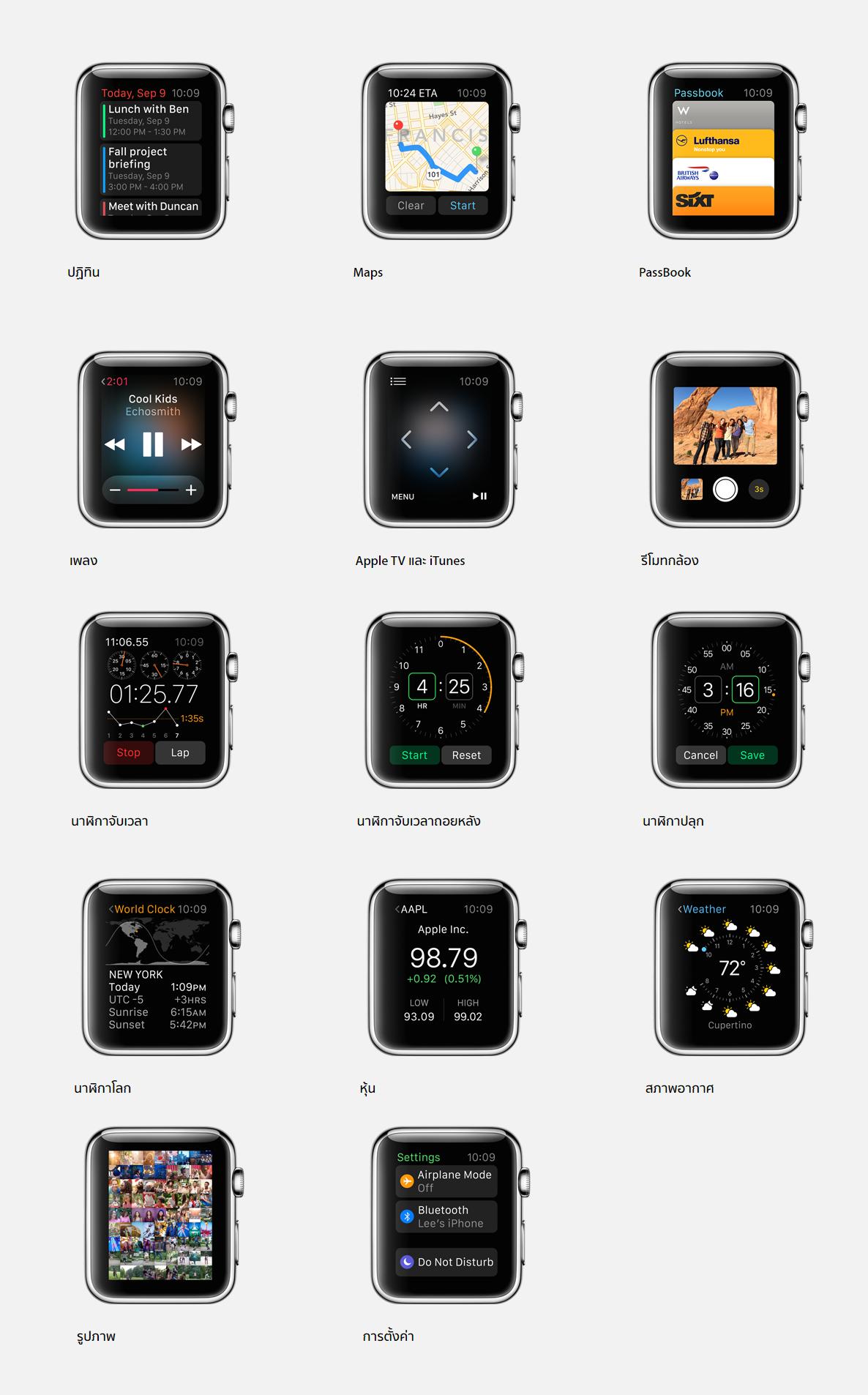 Apple   Apple Watch   คุณสมบัติ
