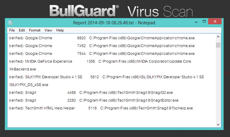 BullGuard Virus Scan-8