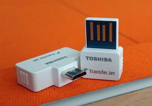 Toshiba TransferJet อุปกรณ์โอนถ่ายข้อมูลความเร็วสูงสำหรับสมาร์ทโฟน ที่เจ๋งกว่า NFC