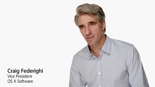 Craig Federighi Apple VP OS X Software 600