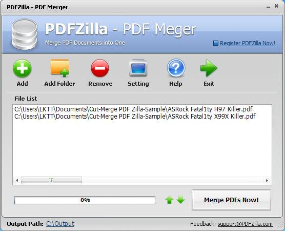 Cut-Merge PDFZilla3-5