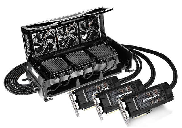 Gigabyte Announces GeForce GTX 980 WaterForce Tri SLI 01 600