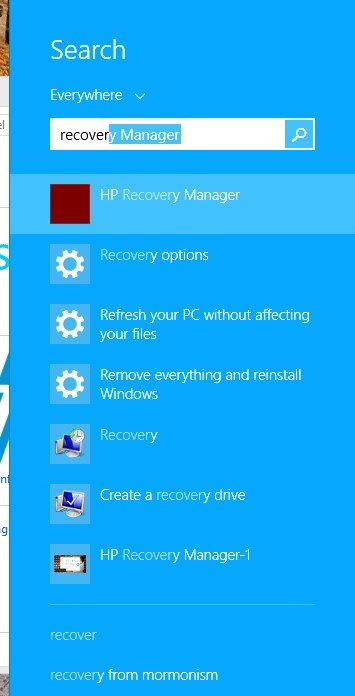 HP Recovery Manager-2
