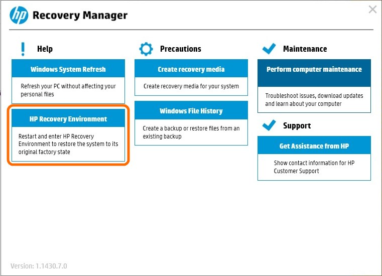 HP Recovery Manager-3