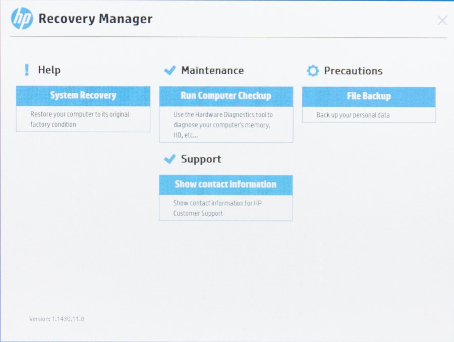 HP Recovery Manager-6