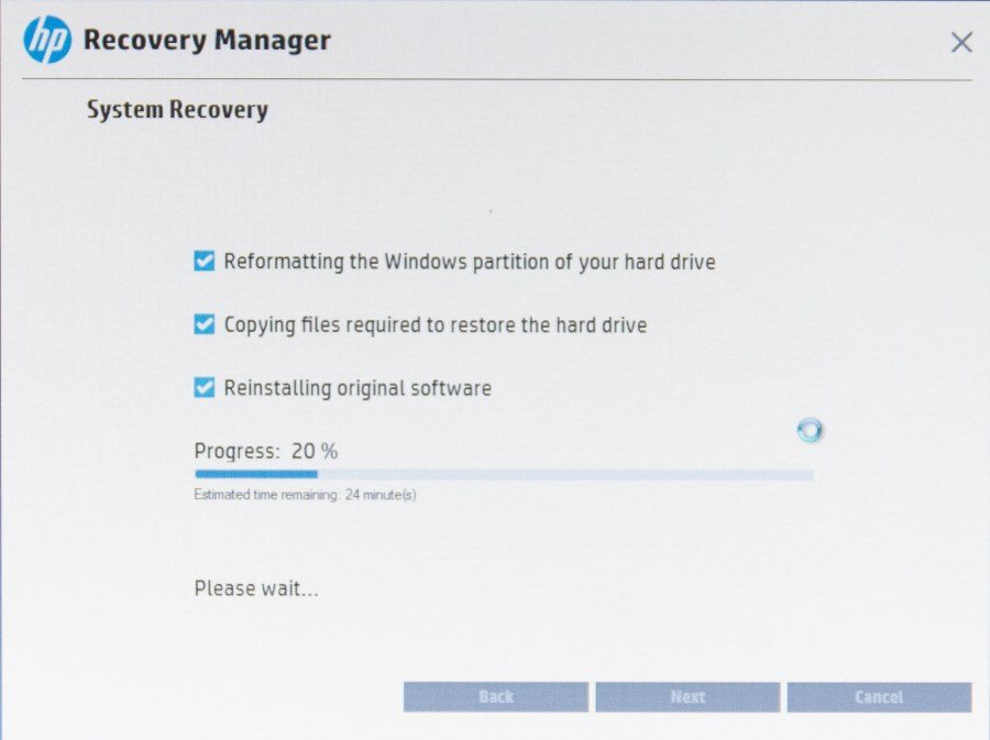 HP Recovery Manager-8