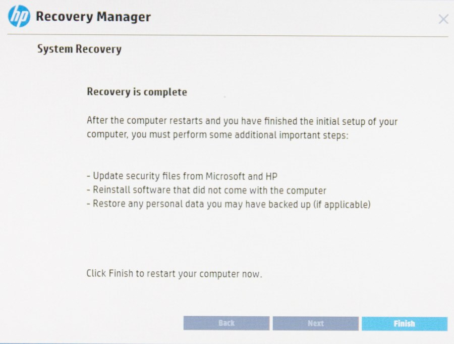 HP Recovery Manager-9