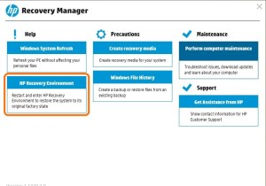 HP Recovery Manager Image