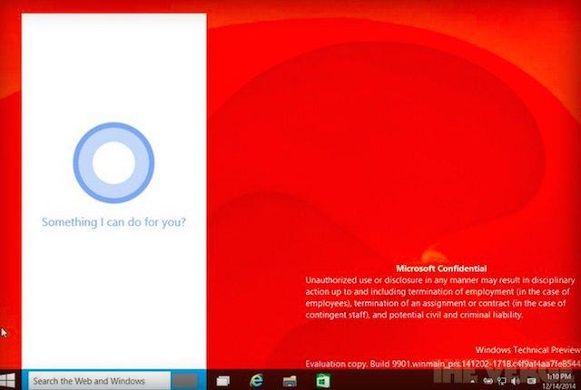 Leaked Windows 10 build shows Cortana integration 01 600