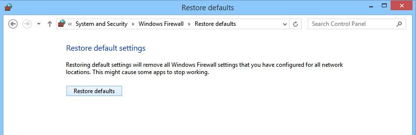 Restore Firewall-5