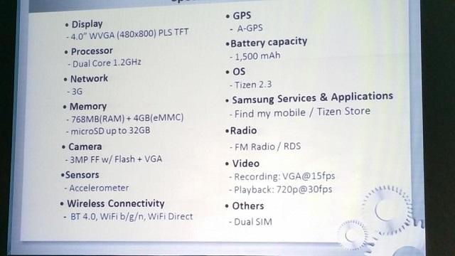 Samsungs Tizen based Z1 05 600