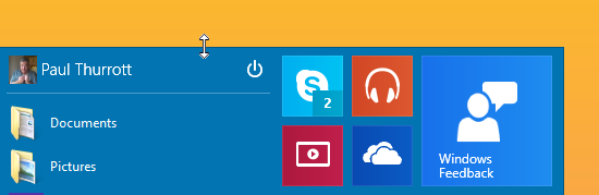 Start Menu Windows 10-3