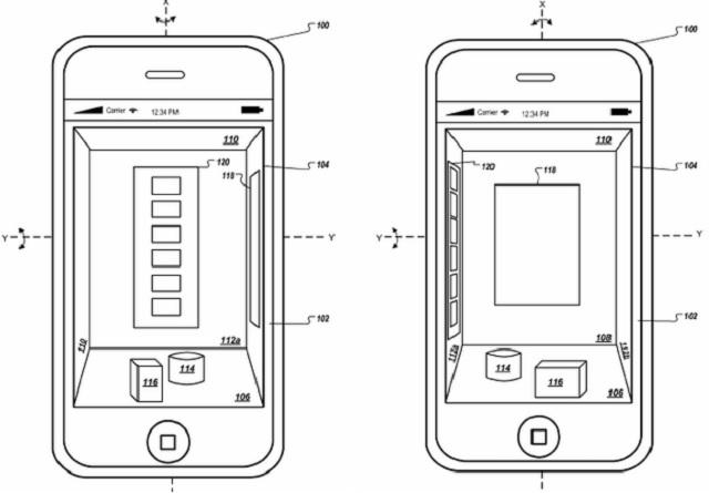 iphone 3d gui patent 600