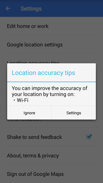 wifi improves location maps screen