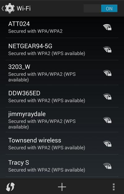 wifi list kitkat