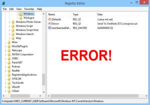 Error Explorer Windows 8 Image