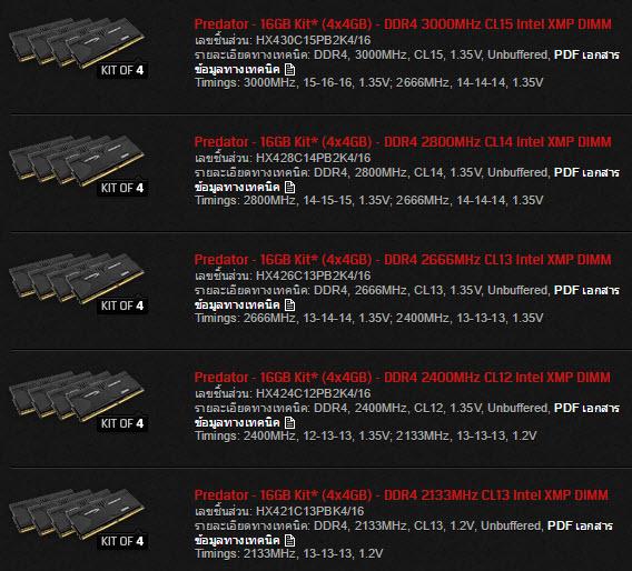 Kingston HyperX Predator-spec