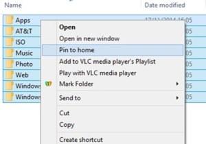 Pin to Home Windows 10 Image