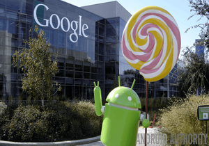 Android Lollipop with Google logo 300