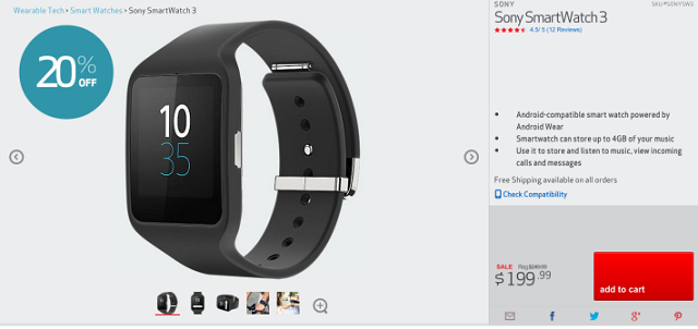 sony smartwatch 3 verizon 600
