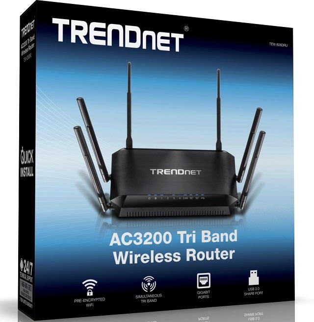 TRENDnet AC3200 Tri Band Wireless Router 04 600