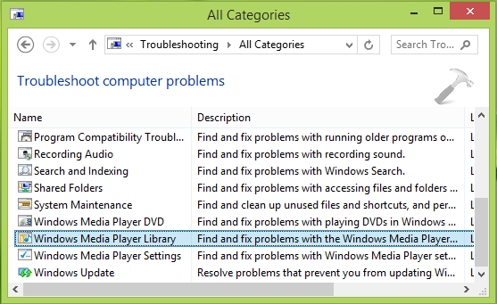 Windows Media Player has stopped working (4)