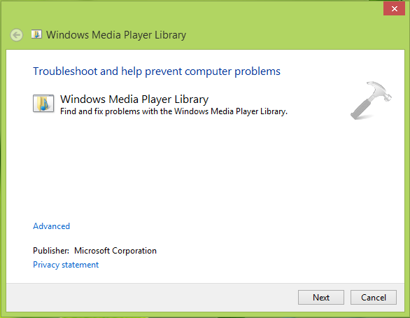 Windows Media Player has stopped working (5)