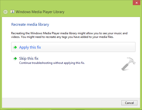 Windows Media Player has stopped working (6)