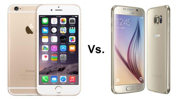 iPhone 6 vs Samsung Galaxy S6 image 800x473
