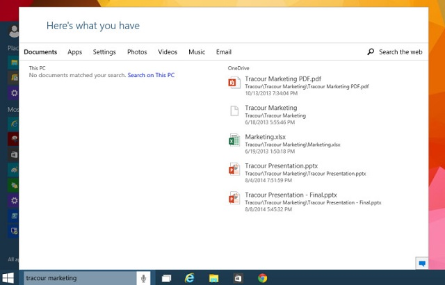 windows 10 build 9926 search function 600