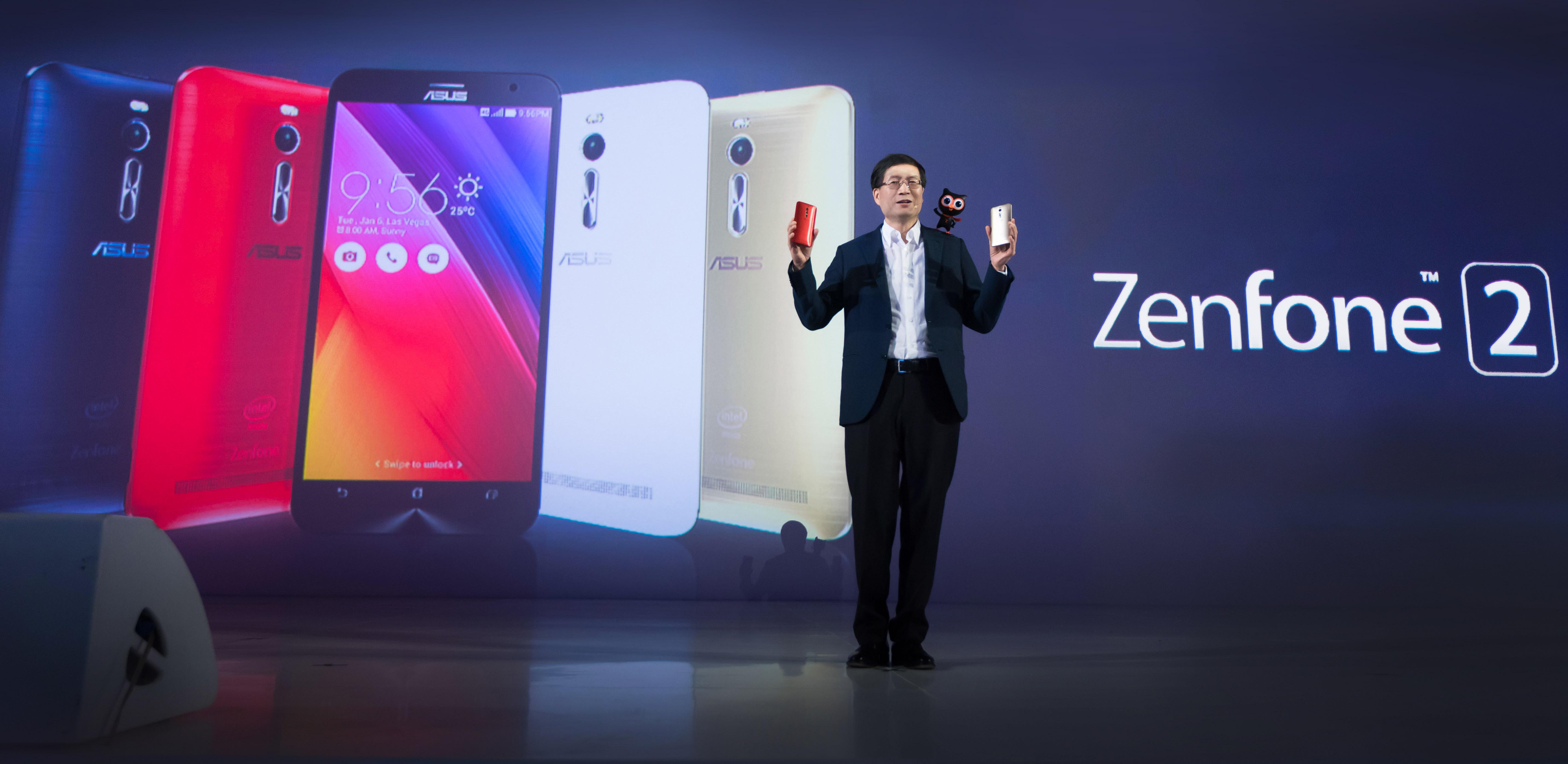 ASUS CEO Jerry Shen announces launch of ZenFone 2 for Southeast Asia markets.