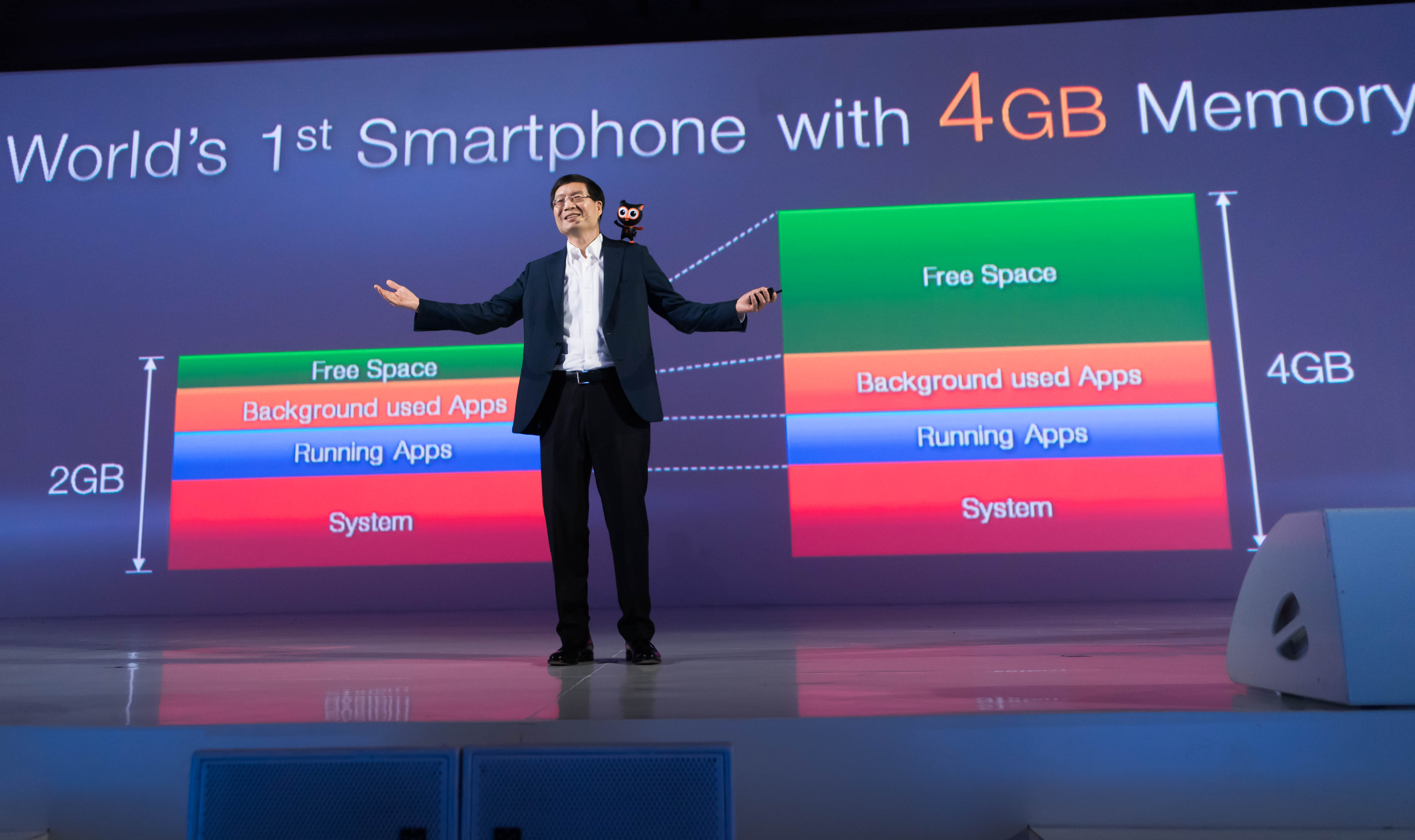 ASUS CEO Jerry Shen at launch event in Jakarta announces ZenFone 2-world's first 4GB smartphone.