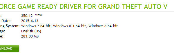 nvidia driver 350.12